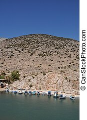 Kalymnos port - beautiful fishing boats in Kalymnos island...