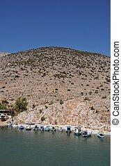Kalymnos port - beautiful fishing boats in Kalymnos island...