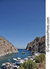 Kalymnos island - beautiful greek island port in Kalymnos,...