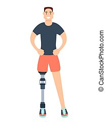 Man with prosthetic leg - Young man with a prosthetic leg...