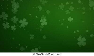 Shamrock background animation - animation of a loopable...