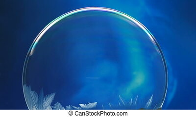 Frozen bubble, winter holidays background, - Winter...