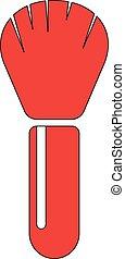 Make Up Brush Flat Icon illustration EPS10