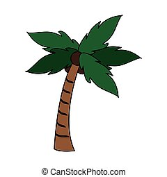 palm tree with coconuts icon image