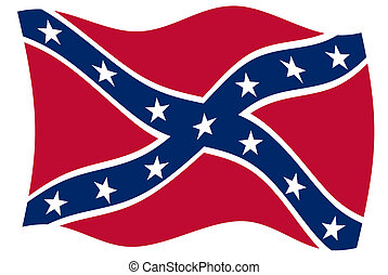 Confederate Flag - Confederate rebel flag of southern...