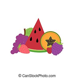Delicious and freshness fruits