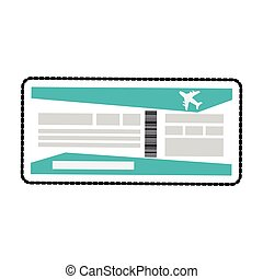 boarding pass or plane ticket icon image vector illustration...