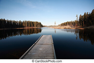 Dock on Northern Manitoba lake