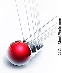 pendulum - 3d rendering of a pendulum