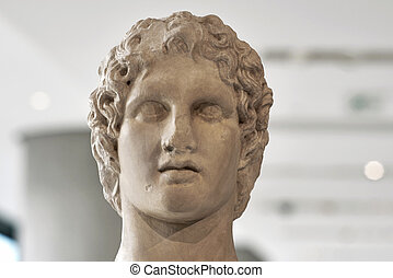 Portrait statue of Alexander the great.