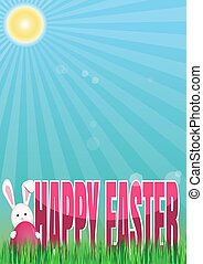 Happy Easter. Spring background. Vector spring Easter...