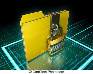 cartella, chiuso chiave