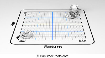 High Return With Risk-Taking - 3D illustration, Business or...
