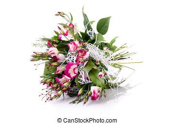 rosa, flor, ramo, arreglo, centro de mesa, blanco