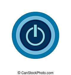On off switch power icon vector illustration graphic design