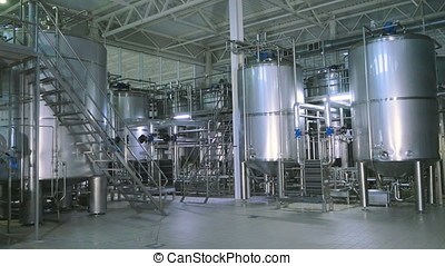 Large stainless steel tanks, cisterns. - Large stainless...