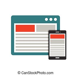 Responsive design flat icon - Responsive design in devices...