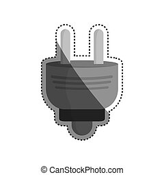 Electric plug isolated icon vector illustration graphic...