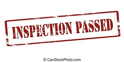 Inspection passed - Stamp with text inspection passed...