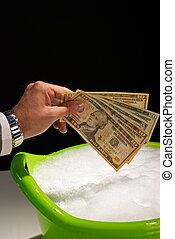 Money laundering - Putting money to soak, money laundering...