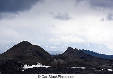 Leirhnjukur - Lavas field in the geothermal valley...