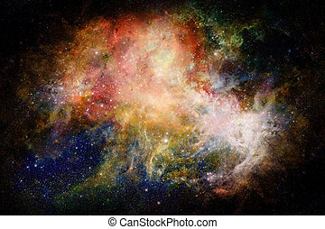 Nebula and galaxy in space. Elements of this image furnished...
