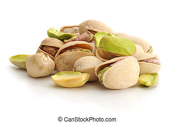 Pistachios - Close-up image of pistachios studio isolated on...