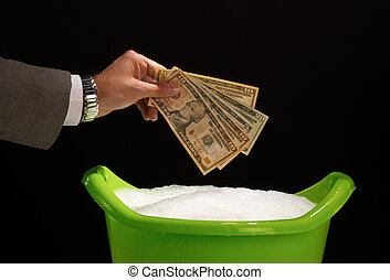 Money laundering - About to launder illegal money giving it...