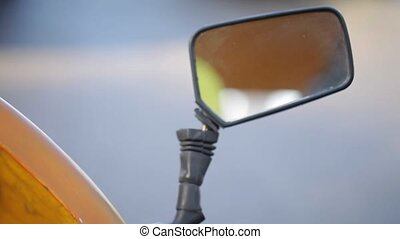 Closeup of a Car mirror - Closeup of a Car rear view mirror