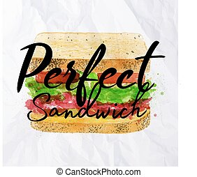 Perfect sandwich - Sandwich with ingridients of bloomer...