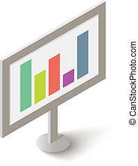 Graphic icon, isometric style - Graphic icon. Isometric...