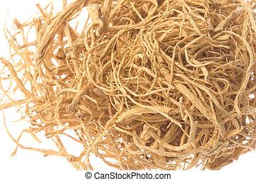 Ginseng Roots Macro Isolated - Isolated macro image of...