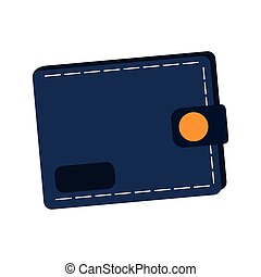 wallet accessory icon over white background. vector...