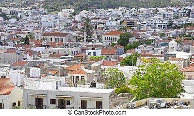 resort port city Rethymno - Panoramic view of architecture...