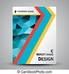Abstract colorful shape cover template design