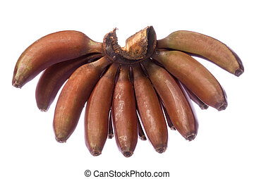 Red Bananas Isolated - Isolated macro image of red bananas