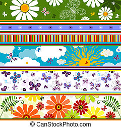 Seamless striped summer pattern