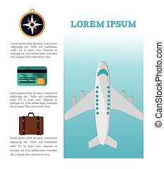 travel brochure tourism vacation vector illustration eps 10
