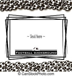 Frame with football balls