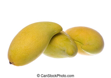 Waterlily Mangoes Isolated - Isolated macro image of...