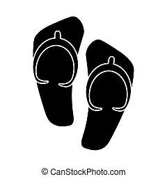 flip flop sandals beach pictogram