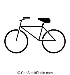 bicycle recreation transport pictogram