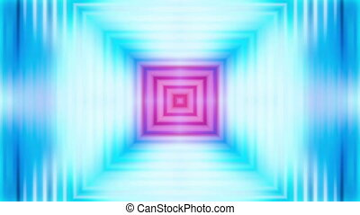 hypnotic square looping abstract multi color background -...