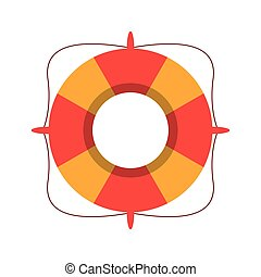 life buoy marine symbol vector illustration eps 10