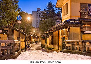 Samurai District of Kanazawa, Japan - Kanazawa, Japan at the...