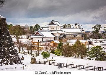 Kanazawa Castle in Japan - Kanazawa, Japan at Kanazawa...