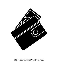 wallet dollar money cash pictogram