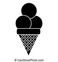 ice cream sweet sundae pictogram