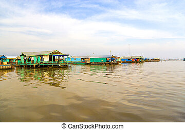 Chong Kneas Floating Village, Cambodia - Image of the Chong...