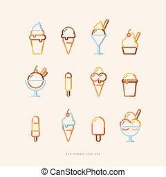 ice cream icon set